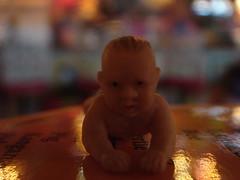Fake baby at Lynn's Paradise Cafe