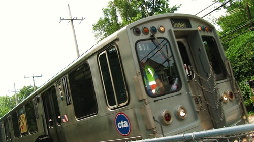 Northbound CTA Purple line train. Wilmette Illinois. July 2010. by Eddie from Chicago