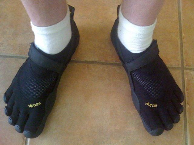 The new socks and sandals?