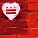 DC flag in red, brick and hearts! by fromcaliw/love