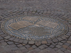 art, cobblestone, manhole, manhole cover, circle, road surface,