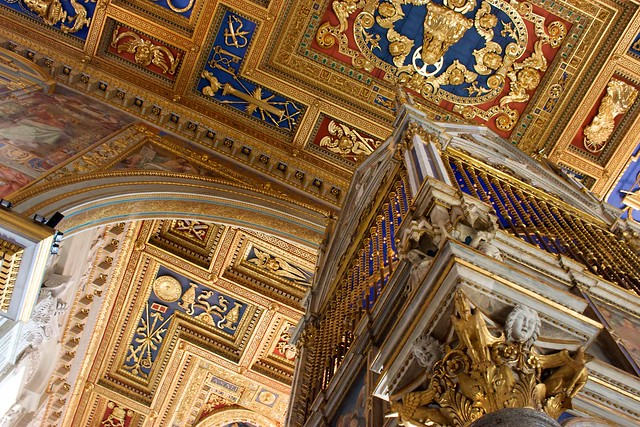 Ceiling and High Altar, Basilica of St. John Lateran, Rome by jiuguangw, on Flickr