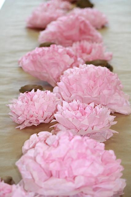 Tissue paper flower table decorations photograph tissue fl tissue flower centerpiece mightylinksfo