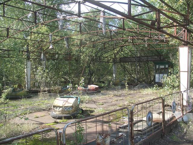 Dodgems/bumper cars, Pripyat amusement park, Chernobyl exclusion zone