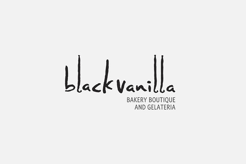 Black Vanilla Logo Design