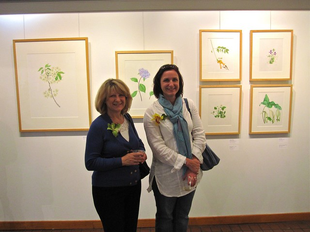From the opening reception of Portraits of a Garden V: the 2010 BBG Florilegium Exhibition