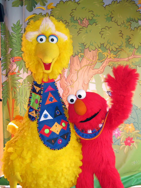 big bird and elmo flickr photo sharing