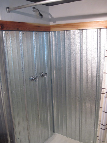 Galvanized shower surround a complete how to bungalow for D i y bathroom installations