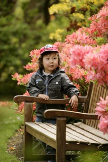 Boy in Dunedin Botanical Gardens