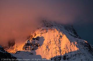 Mt. Assiniboine at Sunrise, Mt. Assiniboine Provincial Park, British Columbia