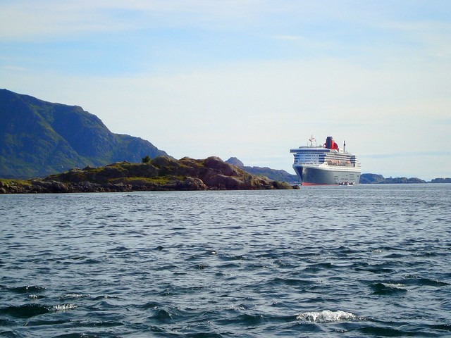 Queen Mary 2 in Lofoten, Norway