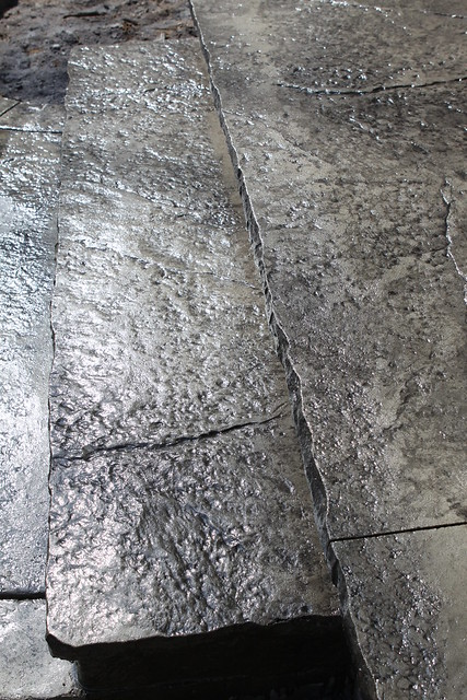Seamless Stamped Concrete Porch And Step With 2 Inch Rough