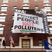 EPA Coal Ash Hearing Banner by Greenpeace USA 2013