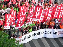 Manifestación de la huelga general del 29S