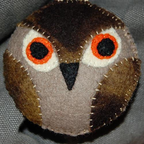 owl pendant #1 by het groene kamertje