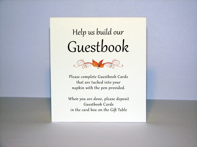 Wedding Guest Table Cards