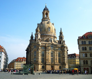 The Dresden Frauenkirche,  like the phoenix, has risen renewed from its ashes.