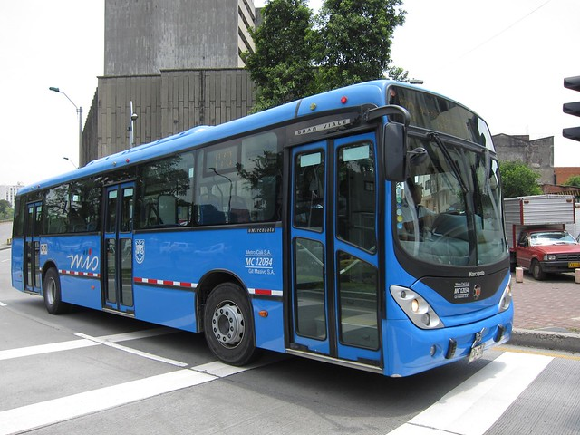 One of the modern Mio buses in Cali