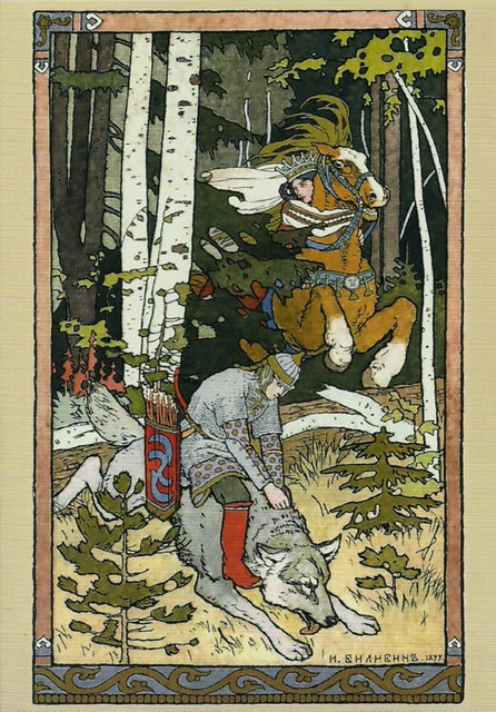 Tsarevitch ivan, the fire bird and the gray wolf