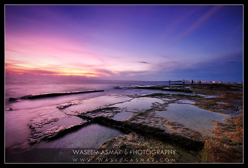 longexposure sunset seascape reflection fishing nikon purple syria sigma1020mm lattakia rockyshore d90 waseemasmar