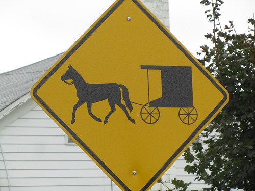 Horse and Buggy Crossing Road Sign