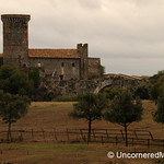 View of Badia Castle at Vulci - Italy