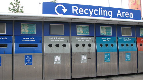 Recycling Area In Sainsbury's Kingston