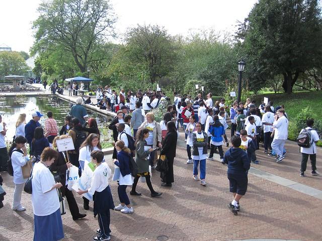 Green Horizon students at BBG.