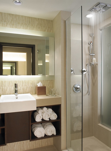 Spa inspired bathrooms with aveda toiletries flickr for Spa inspired bathroom designs