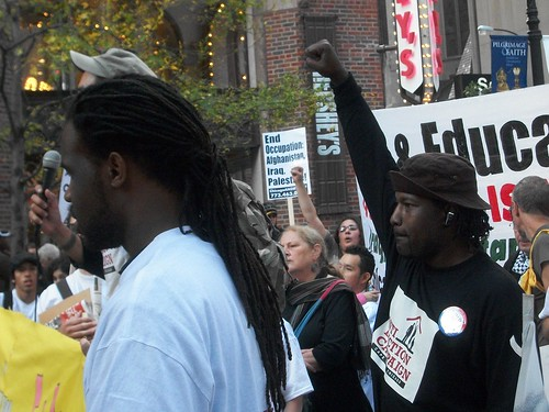 Chicago Anti-Eviction Coalition representatives at the regional march to oppose war and racism that was held in the city on October 16, 2010. The event drew over a thousand people. (Photo: Abayomi Azikiwe) by Pan-African News Wire File Photos