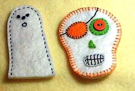 sugar skull an Ghost Finger Puppets / Pencil Toppers ...