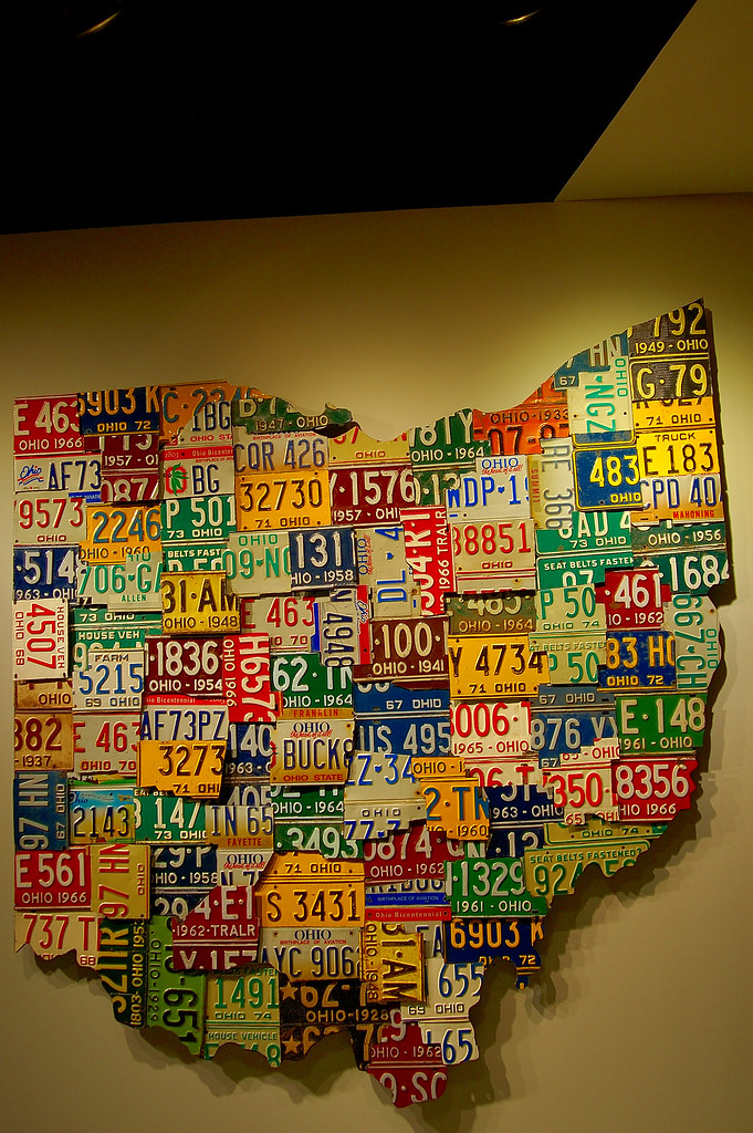 License Plate State Map.Ohio License Plate Map This Map Of The State Of Ohio Is Ma Flickr