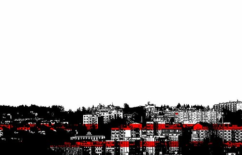 city houses red urban white black canon buildings eos appartments wiev 550d