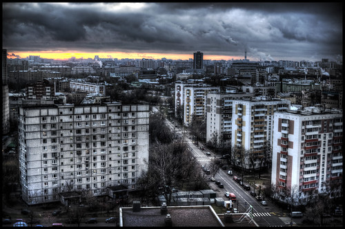 morning color sunrise moscow 45 hdr moskva