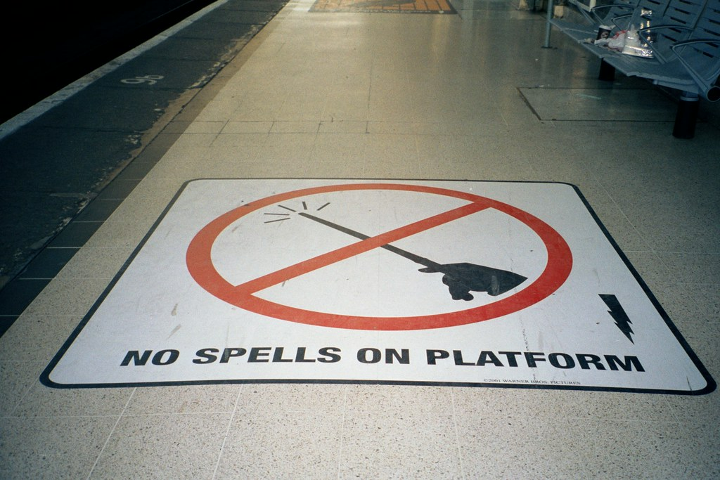 Platform 9 3/4 no spells