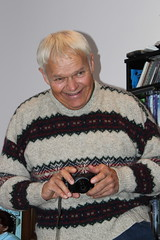 Dad with his new camera