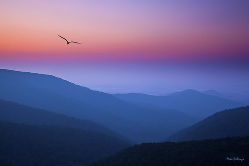sunset mountains landscape virginia shenandoah