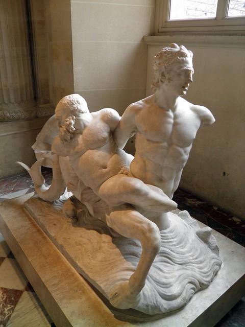 Marine Centaur and Silenus, Louvre Museum