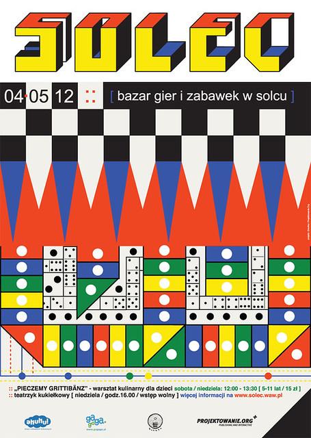 Affiche pour un marche de jeux videos à Solec