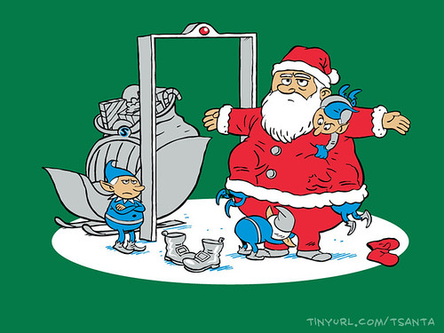 TSAnta Claus on shirt.woot by Ape Lad