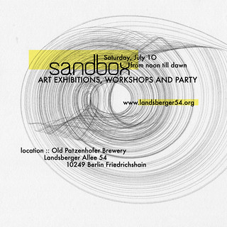 Sandbox at LA54, Flyer by Andre Wakko