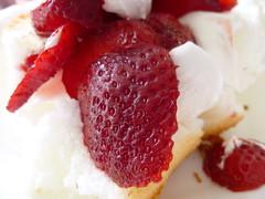 plant(0.0), peach melba(0.0), produce(0.0), raspberry(0.0), pavlova(1.0), strawberry pie(1.0), berry(1.0), strawberry(1.0), whipped cream(1.0), frutti di bosco(1.0), fruit(1.0), food(1.0), dish(1.0), dessert(1.0), cream(1.0),