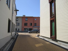 Between buildings 3