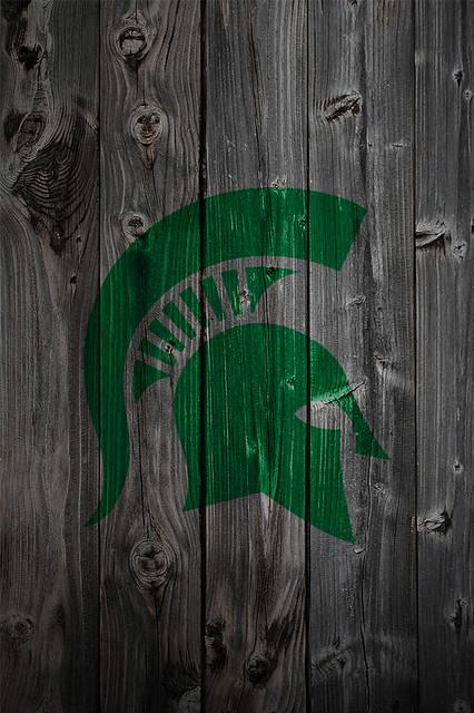 michigan state spartans alternate logo wood iphone 4