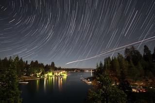 Startrails over Lake Arrowhead, CA | by troyarkley