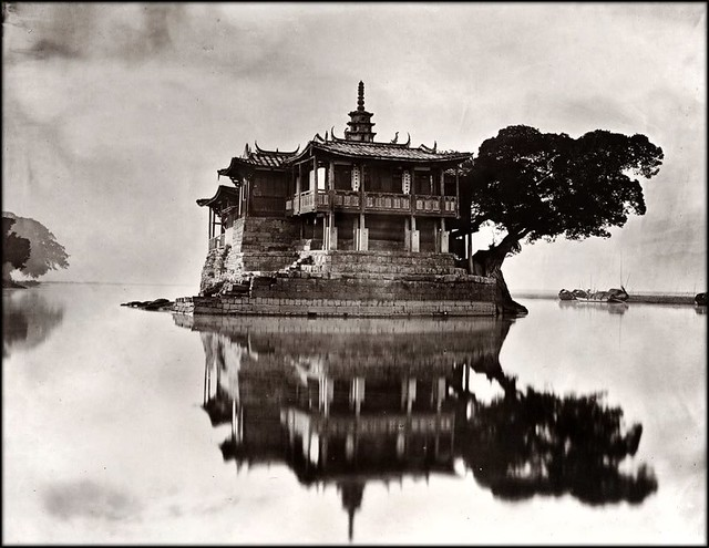 Island Temple On The River Min, by John Thomson 1870/1871