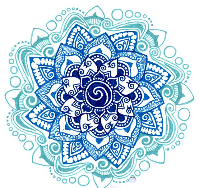 Blue shades mandala | Flickr - Photo Sharing!