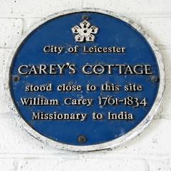 Photo of William Carey blue plaque
