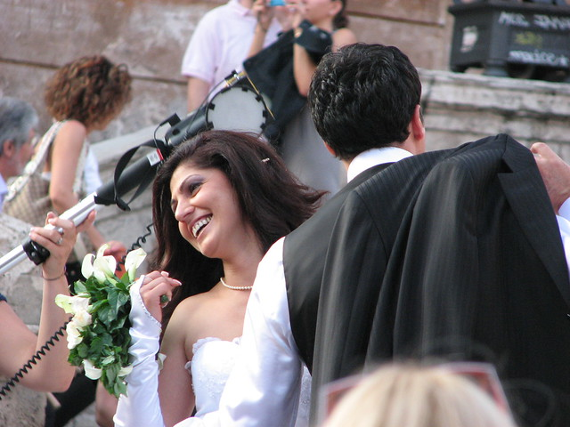 Pictures of Wedding Parties that we saw throughout Rome