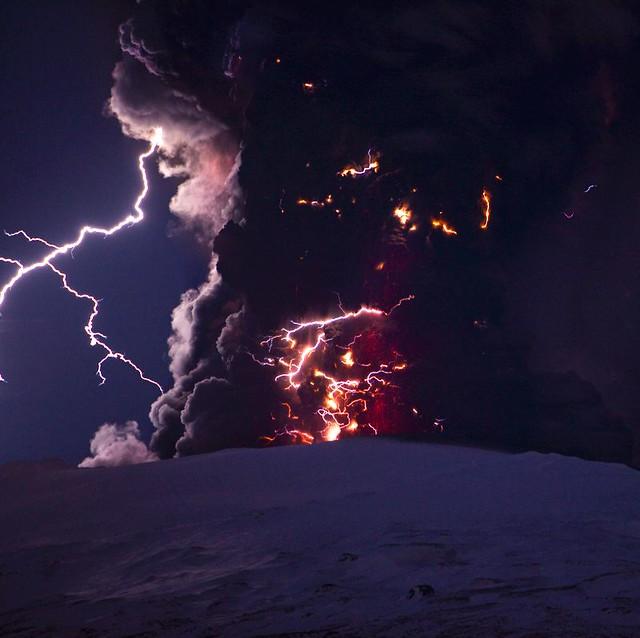 Lightning, Eyjafjallajökull Eruption, Iceland